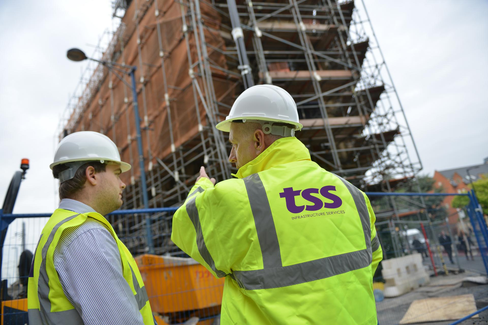 TSS staff on-site at a construction job