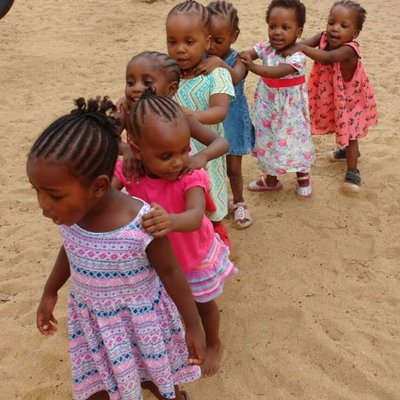 Children playing at The Good Life Orphanage in Africa